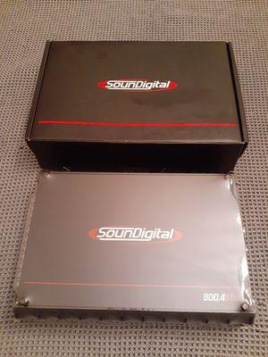 NEW! Soundigital 800 watt 4 channel amp for Sale in East York, PA