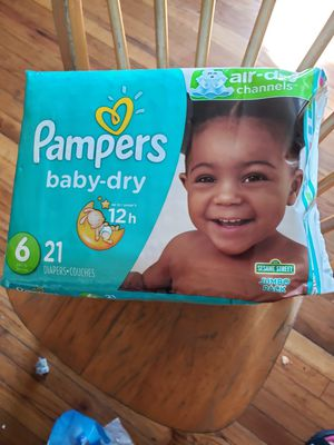 3 PACKAGES DIAPERS PAMPERS BABY DRY SIZE 6 for Sale in Adelphi, MD