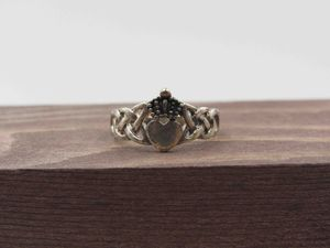 Size 5.75 Sterling Silver Rustic Claddagh Band Ring Vintage Statement Engagement Wedding Promise Anniversary Bridal Cocktail Friendship for Sale in Bothell, WA
