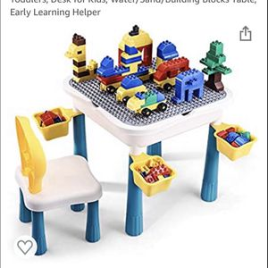 Activity Table, Toddler Table and Chair Set, Building Blocks for Sale in West Covina, CA