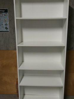 5 Shelf White Bookcase for Sale in Seattle,  WA