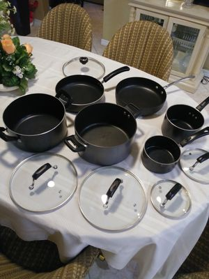 8 piece pots and pan non-stick set for cooking for Sale in Fort Myers, FL
