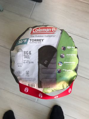 Coleman Torrey 30 sleeping bag big and tall for Sale in San Diego, CA