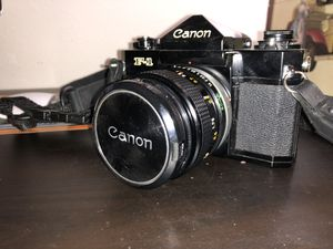 Canon F-1 Camera w/ 55mm, 100mm, and 85-300mm lenses for Sale in Portland, OR