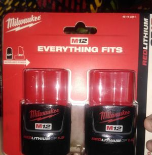 Milwaukee M12 1.5 Batterys for Sale in San Jose, CA