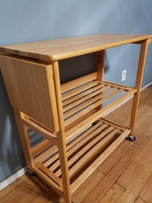Folding buffet table, kitchen island, kitchen cart, for Sale in Phoenix, AZ