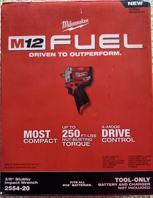 """New Milwaukee M12 Fuel 3/8"""" Stubby Impact Wrench for Sale in Oakland, CA"""