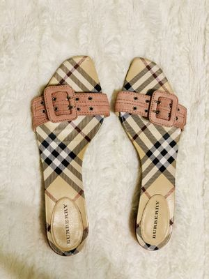 Authentic Burberry Pink Slides Sandals for Sale in Houston, TX