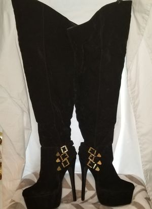 Black Thigh High Stiletto Boots for Sale in Tampa, FL