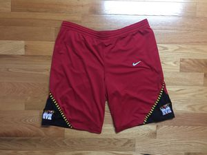 Nike Maryland Terrapins Authentic NCAA College Basketball Shorts for Sale in Boston, MA