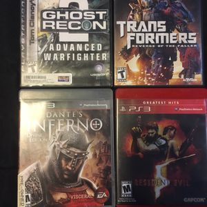 PS3 Games (ignore Top Two In Picture) for Sale in Center Line, MI