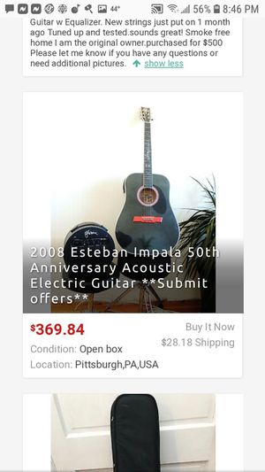 Esteban 50th anniversary impala guitar for Sale in Owensboro, KY