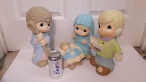 Precious moments Nativity Christmas scene large display Joseph Mary Jesus caroler 12 inches for Sale in Tracy, CA