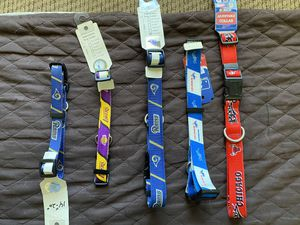NEW sport teams dog collars $7 for the small and $10 for the large for Sale in Fresno, CA