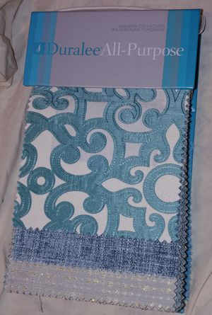 Fabric Sample Book: Duralee All-Purpose Addison Collection. Spa-Verdigris-Turquoise. Book #3062 for Sale in Seattle, WA