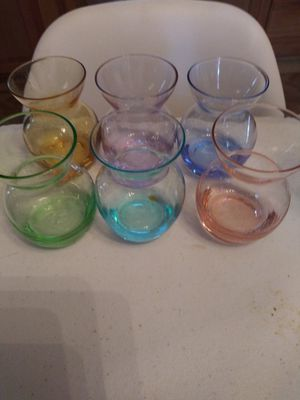 6 little colors glass for Sale in Houston, TX