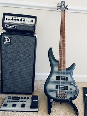 1: Ibanez SR305 2: Boss GT-1B 3: Ampeg SVT Micro VR Stack for Sale in Germantown, MD
