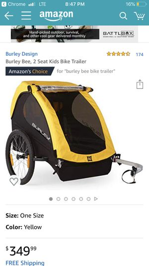 Burley bee 2 seat kids bike trailer! for Sale in San Carlos, CA