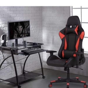adjustable computer chair with recline seat for gaming home office, red color for Sale in Ontario, CA