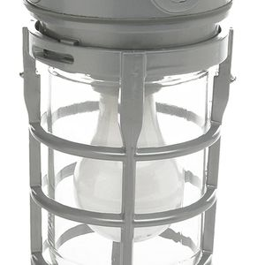 Vandal Resistant Security Light With Ceiling Mount (150W Incandescent Bulb, Silver) for Sale in Indianapolis, IN