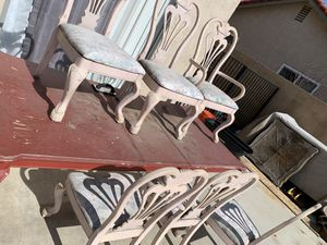 Large dining table with 6 chairs. for Sale in Fontana, CA