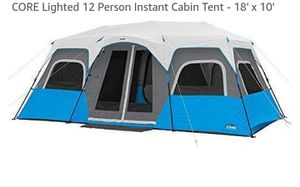Core 12 person lighted tent for Sale in Montgomery, AL
