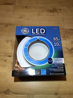 GE 6'' LED Recessed Light Fixture (Brand New In Box) for Sale in Burrillville, RI