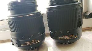 2 Nikon lenses for parts or repair for Sale in St. Petersburg, FL
