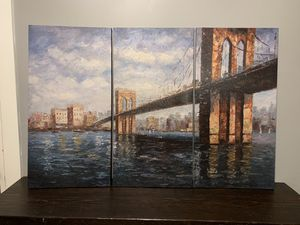 Abstract Art Painting (3 pieces total) for Sale in Chicago, IL
