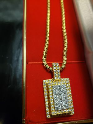 3ct diamond pendant on 14k gold for Sale in Rockville, MD
