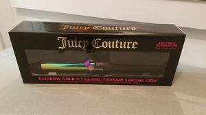 """Juicy Couture Rainbow Gold 1-1/4"""" Barrel Titanium Curling Tong Model no. H90002 Brand New Located - west kendall for Sale in Miami, FL"""