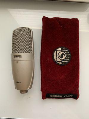 Shure KSM27 Studio Condenser Microphone for Sale in Diamond Bar, CA