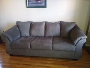 Two grey sofas couches for Sale in Silver Spring, MD