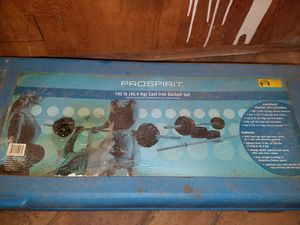 Pro spirit 100 lb iron dumbbell weight set for Sale in Abington, MA
