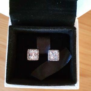 Pandora diamond square studded earrings for Sale in Edmond, OK