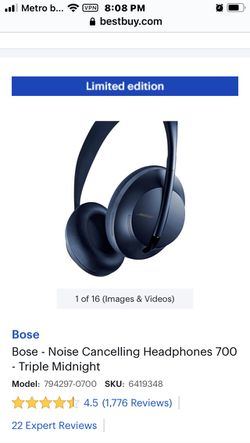 BOSE 700 noise canceling top of the line headphones for Sale in PT CHARLOTTE,  FL