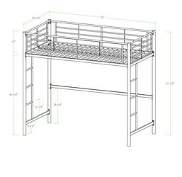 Walker Edition Full Size Metal Loft Bed for Sale in South San Francisco,  CA