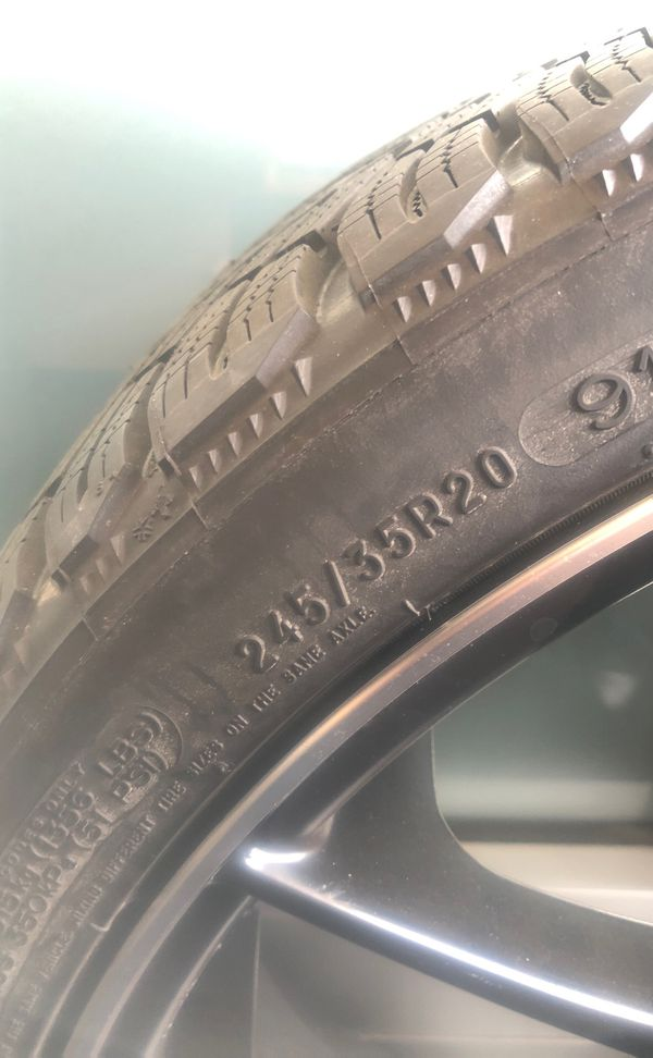 Brand new Michelin tire with rim