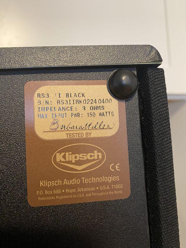 Klipsch RS-3 Surround Sound speakers