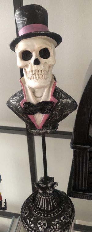 Halloween Decor- Mr and Mrs Skulls for Sale in Manassas, VA
