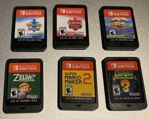 Pokémon Sword ⚔️ ➕ Shield 🛡➕ Luigis Mansion 3🧟♂️➕ Zelda Awakening ➕ Mario Sonic Olympics 🥇🏆➕ Maker 2 🎮 Nintendo Switch lot for Sale in Amherst, MA