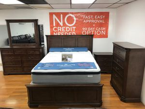 BEAUTIFUL SHERRY BDRM SET. KING$899 QUEEN $799. SET INCLUDES BED, DRESSER, MIRROR, NIGHTSTAND. ADD ON CHEST FOR ONLY $249! SAME DAY DELIVERY! NO CRED for Sale in Saint Petersburg, FL