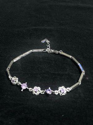 Sterling Silver / Purple-White CZ Bracelet for Sale in Las Vegas, NV