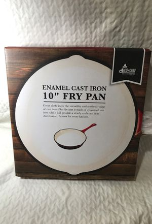 """Eco-Chef Enamel Cast Iron 10"""" Fry Pan for Sale in Tiverton, RI"""