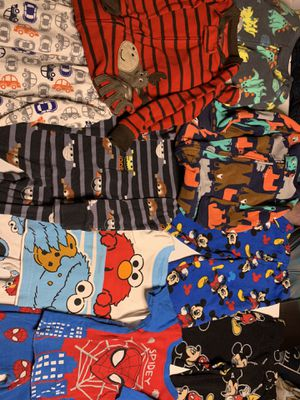 Lot of 12 piece 18 months Pajamas Sleepers and 2 piece sets for Sale in Lowell, IN