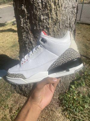 "Jordan 3 """"White Cement"" Size 9.5 for Sale in Covington, KY"