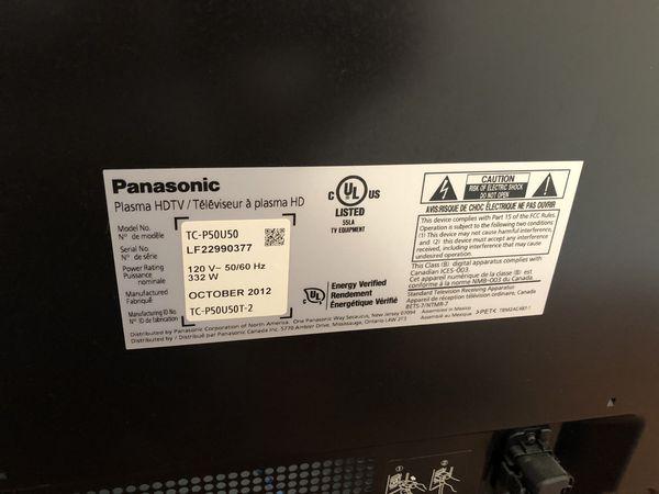 """Panasonic 50"""""""
