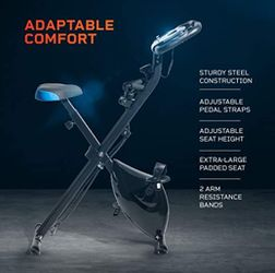 Exercise Whenever You Are With Slim Profile & Foldable Exercise Bike!  for Sale in Frederick, MD