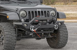 Jeep Full Width Front LED Winch Plate Bumper (JK, JL, Gladiator JT) With Integrated Light bar (Financing Available) for Sale in Anaheim, CA