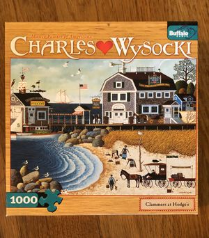 "Puzzle 1000 pieces Charles Wysockis ""Clammers at Hodge's"" for Sale in Long Beach, CA"
